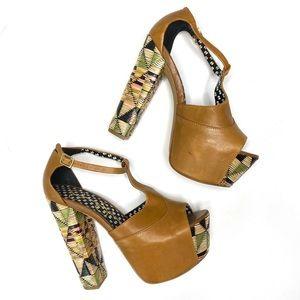 JESSICA SIMPSON Dany Platform Boho Block Heels 7